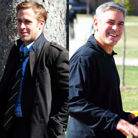 Pictures of Ryan Gosling and George Clooney on the Set of Ideas of March