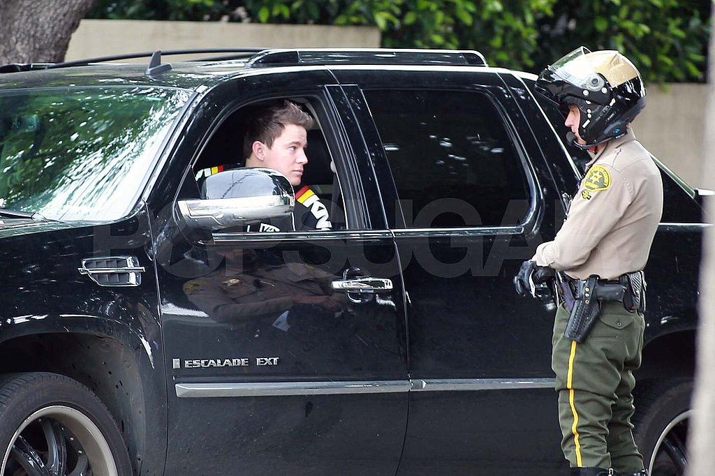 Oh No — Channing Tatum Gets Pulled Over!