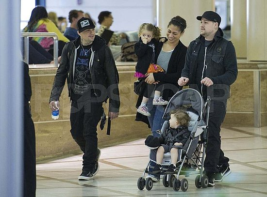 Nicole Returns to the Gym as the Madden Brothers Take Off With Harlow and Sparrow