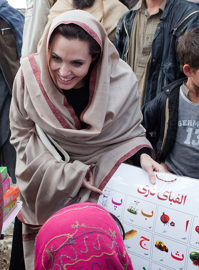 Angelina Jolie Visits Refugees in Afghanistan and Pleads For Help in Côte d'Ivoire and Libya