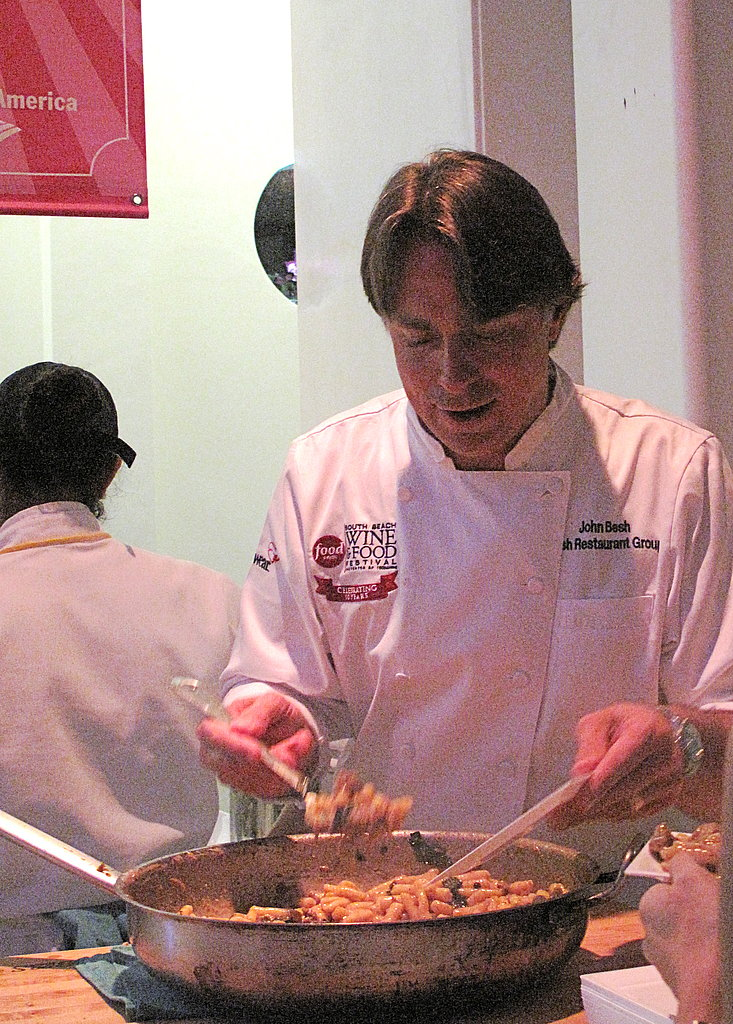 John Besh serving up truffled cavatelli at the Best of the Best party.