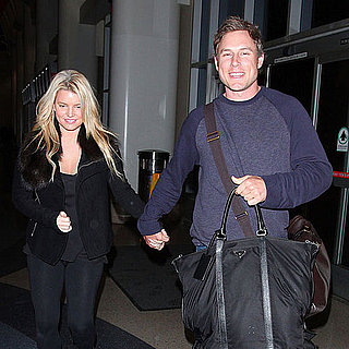 Pictures of Jessica Simpson and Eric Johnson Leaving LAX