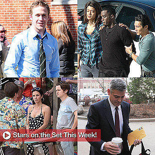 Pictures of Ryan Gosling, George Clooney, and Tom Cruise on Set