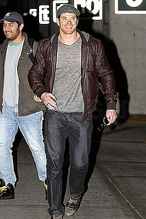 Pictures of Twilight's Kellan Lutz Arriving in Vancouver to Film Breaking Dawn