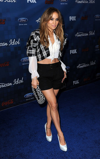 Jennifer Lopez Flaunts Her Legs to Celebrate the American Idol Finalists