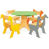 P'kolino Tree Table With Zebra and Giraffe Chairs