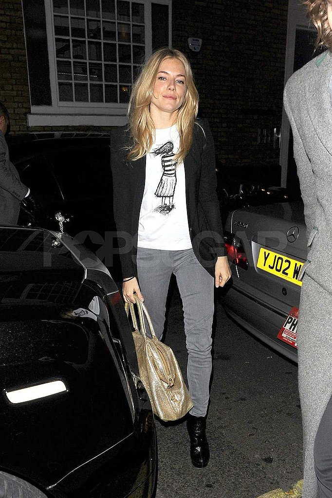 Sienna Miller and Tom Sturridge Meet Up For a Late Night in London