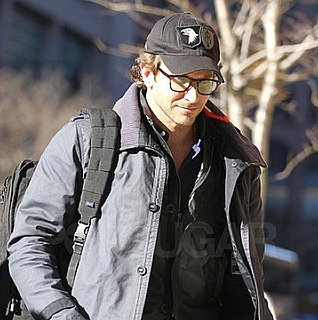 Pictures of Bradley Cooper and His Mother Gloria Arriving at His NYC Hotel