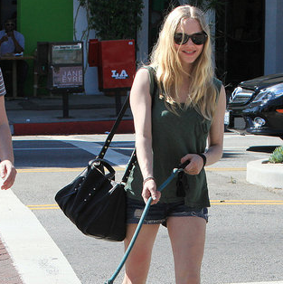 Pictures of Amanda Seyfried Walking Her Dog Before Red Riding Hood Release