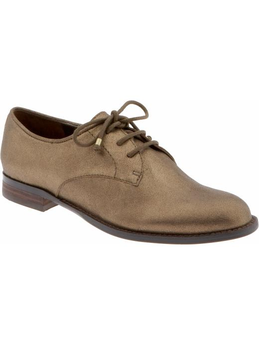Banana Republic Oxford ($100, originally $120) Why: The oxford is the perfect counterpoint to your little Summer dress, and they're totally comfortable. We love the metallic sheen.