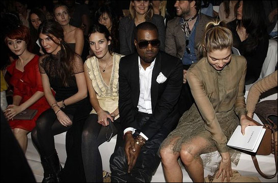 Alexa Chung, Kanye West and Jess Hart at Valentino.