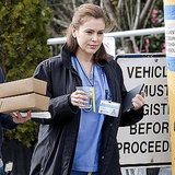 Pictures of Alyssa Milano on New Year's Eve Set