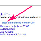 Block Sites in Google Search Results