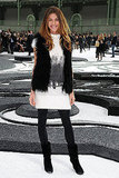 She nailed boho, rocker-chic at Chanel's show last October.