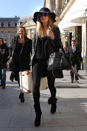 Kate Moss kept it boho-cool in all black.