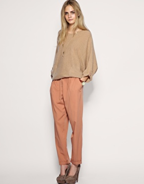 A muted peach trouser comes in handy when you're looking for a tonal neutral look. ASOS Tailored Low Slung Peg Pant, ($72)