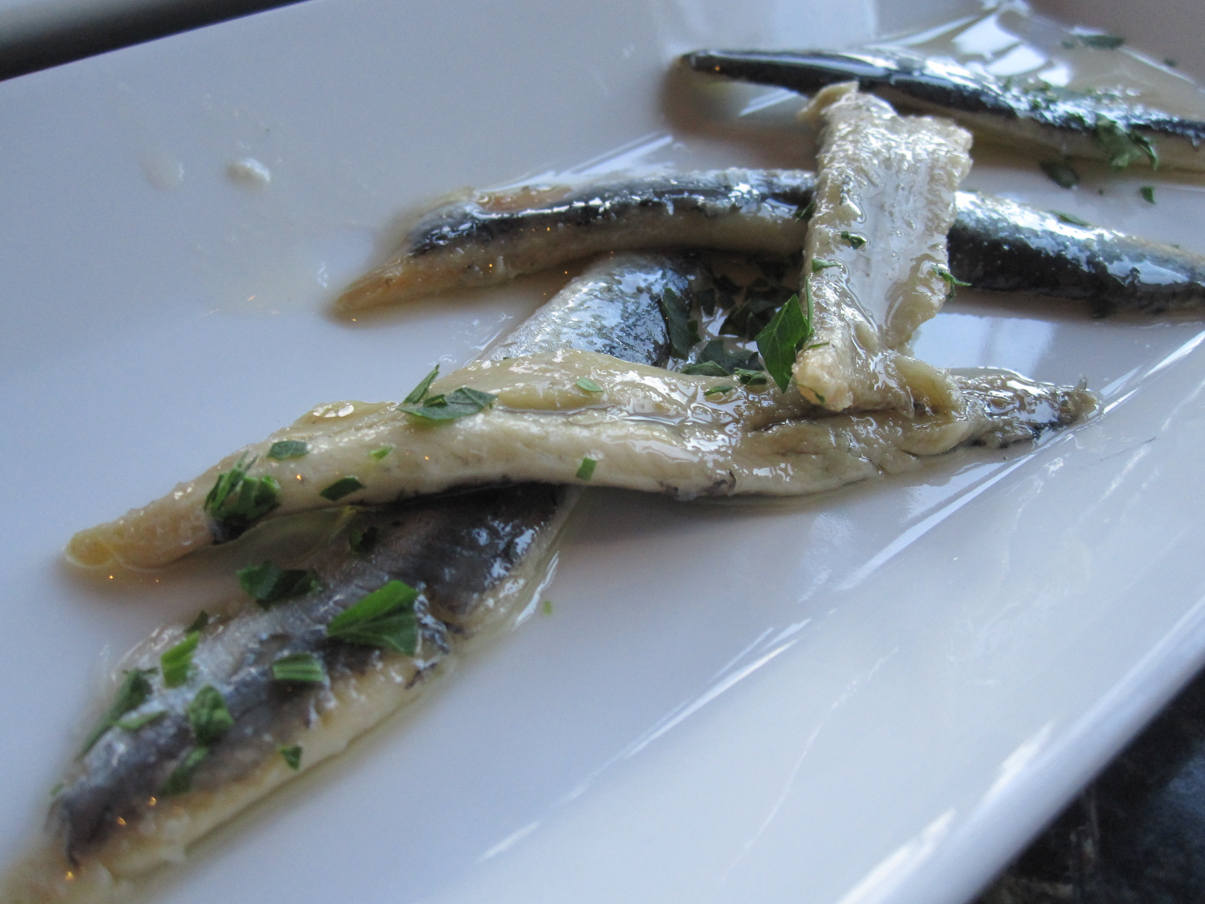 The Spanish boquerones were amazing. Stay tuned for the recipe!
