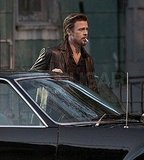 Brad Pitt Lights Up the Set With a Sexy Smolder