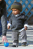 Sandra's Little Louis Shows Off His Walking Skills in NYC!