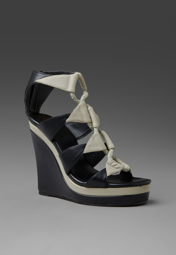 Diane von Furstenberg took a nautical stance on these Theia Wedges ($275), and we like it!