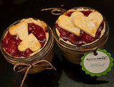 Cherry pie-in-a-jar favors are taken to the next level of cuteness with heart-shaped crust toppers! Photo by Candice Benjamin