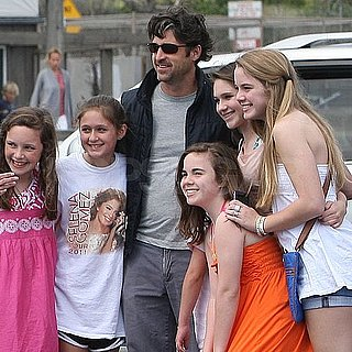 Pictures of Patrick Dempsey Taking Photos With a Group of Young Fans