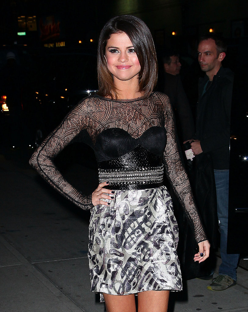 Selena Gomez Is All Grown Up For a Stop by The Late Show