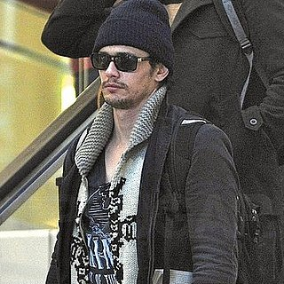 Pictures of James Franco at LAX