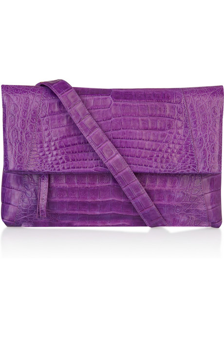 This posh purple Nancy Gonzalez Crocodile Clutch ($1,900) is a worthy investment piece.