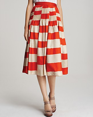 We're thinking about pairing this Marc by Marc Jacobs Bella Striped Skirt ($498) with a printed top and bright wedges for a perfectly clashed ensemble.