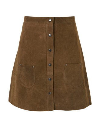 This Topshop Suede Skirt ($110) is '70s chic.