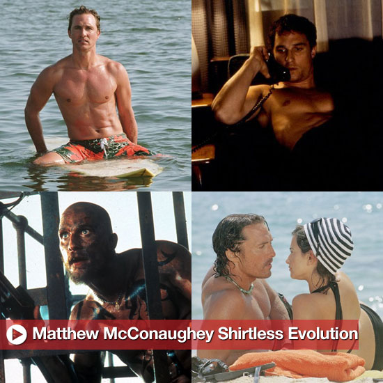 Matthew McConaughey Shirtless Pictures in Movies