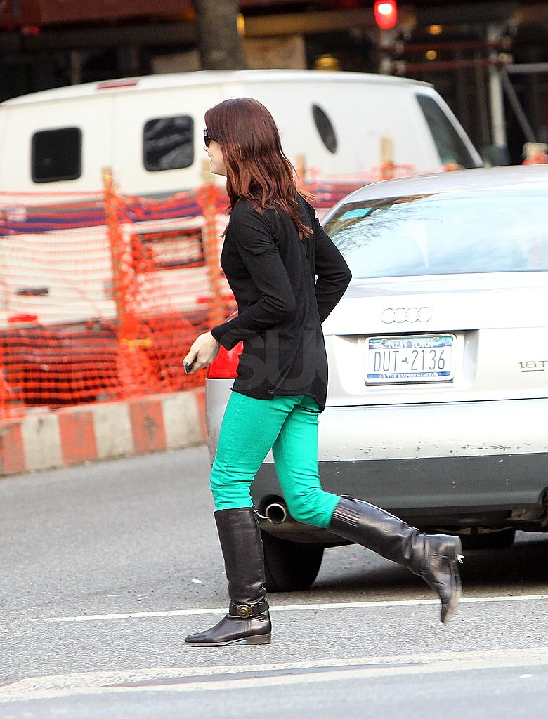 Single Ashley Greene Celebrates St. Patrick's Day With Green Pants and a Former Flame