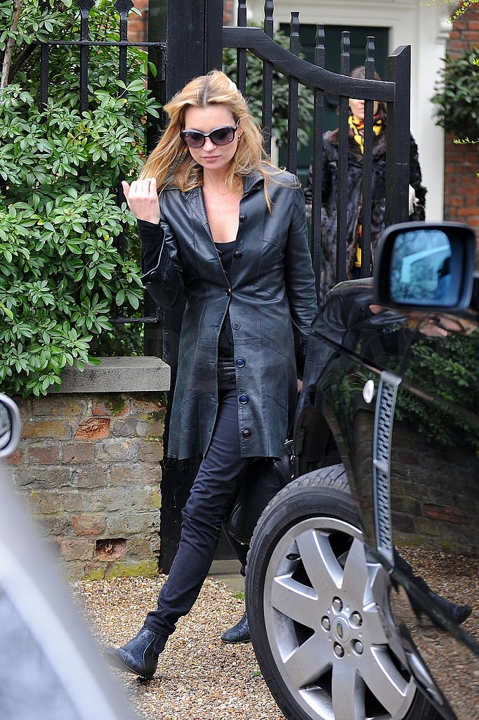 Kate Moss Follows Up Another Social Evening With Home Improvement and Magazines
