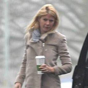 Pictures of Gwyneth Paltrow Grabbing a Cup of Coffee in London