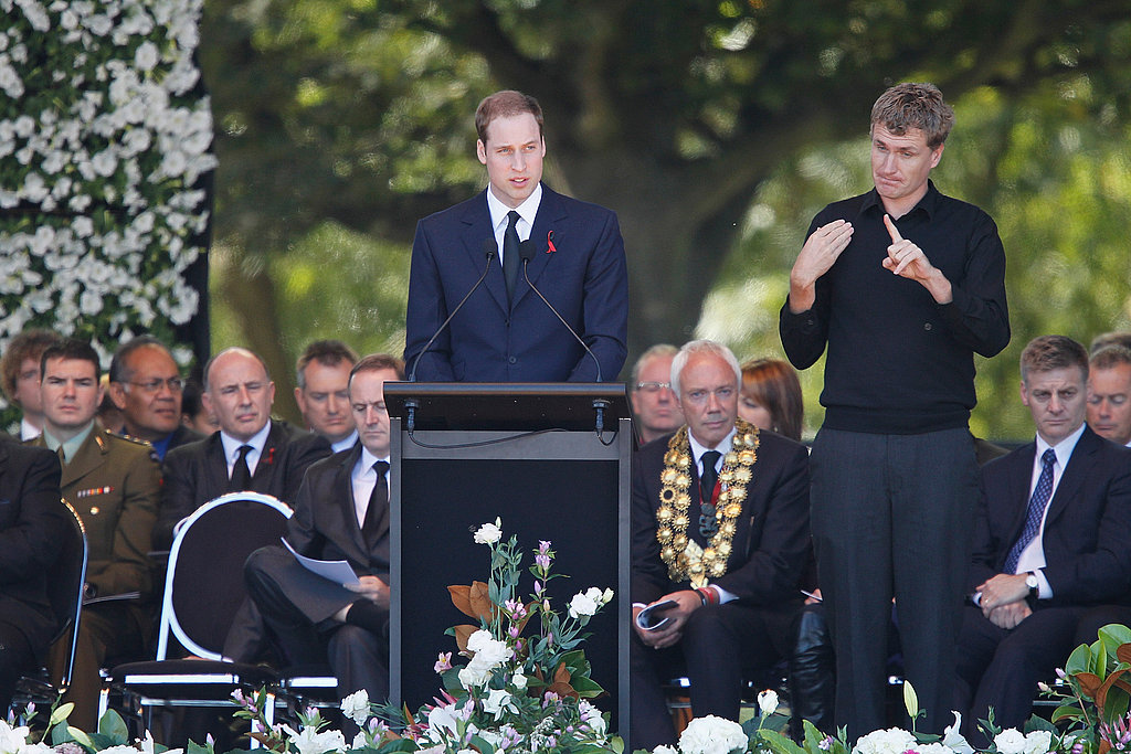 Prince William's Second Day in New Zealand