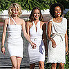 Pictures of Minka Kelly, Annie Ilonzeh, and Rachael Taylor on the Charlie's Angels Set in Miami