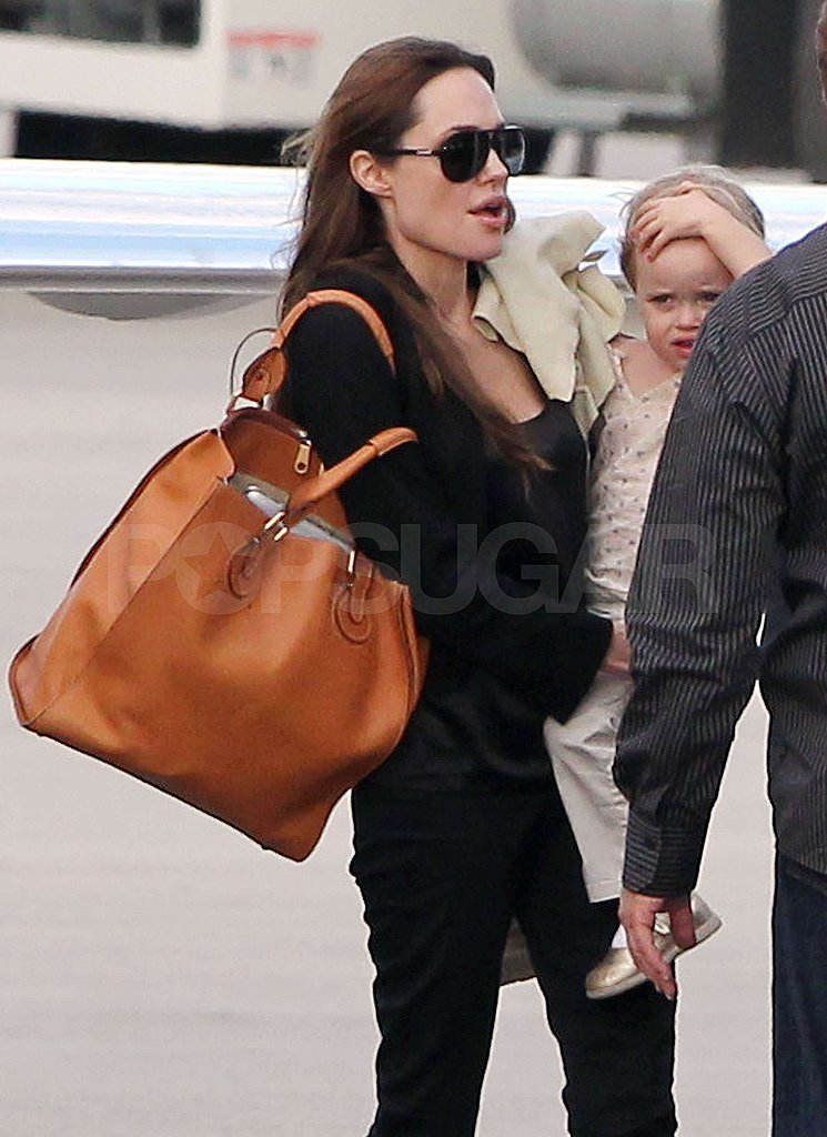 Angelina Jolie Touches Down in New Orleans With All Six Kids!