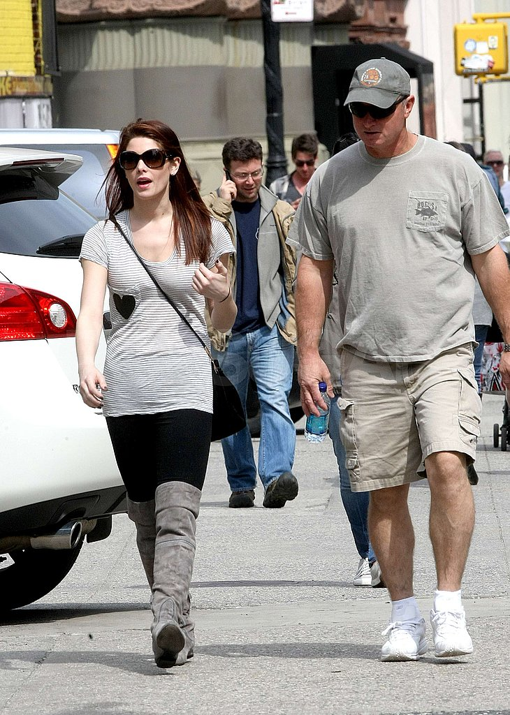 Ashley Greene Hangs With Her Dad After a Night Out With Jared Followill