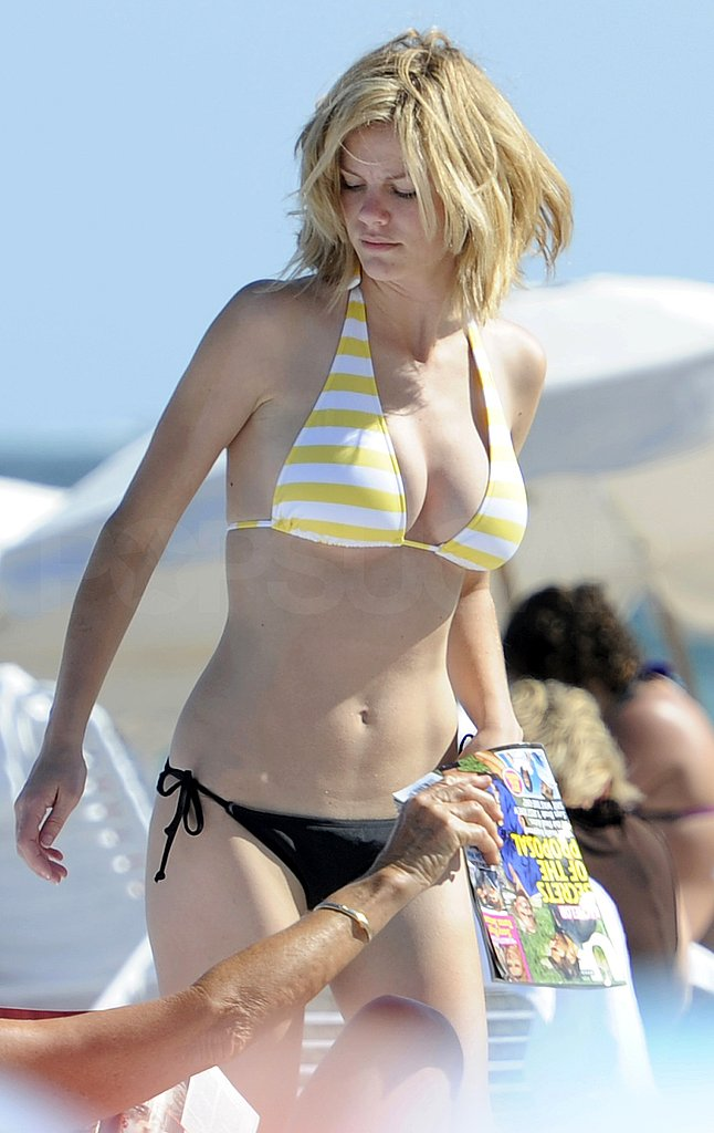 Brooklyn Decker Dons a Mismatched Bikini For a Day Out in Miami
