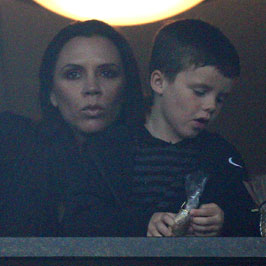 Pictures of Pregnant Victoria Beckham Watching David Play Soccer With Their Sons