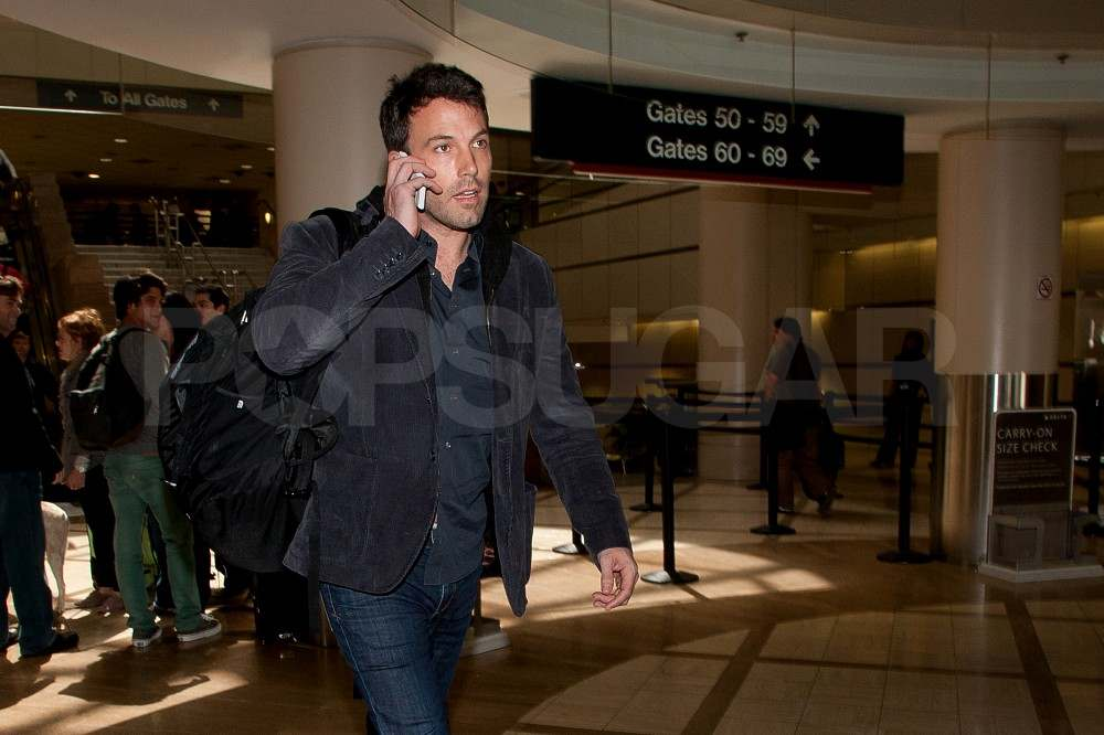 Ben Affleck Lands at LAX Looking Layered Up and Hot