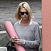 Pictures of January Jones at Yoga in LA