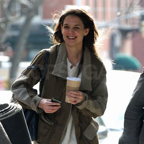 Katie Holmes Returns to NYC to Debut Her New Short For John Frieda