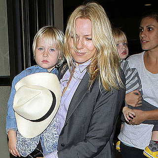 Pictures of Naomi Watts With Samuel and Sasha at Airport