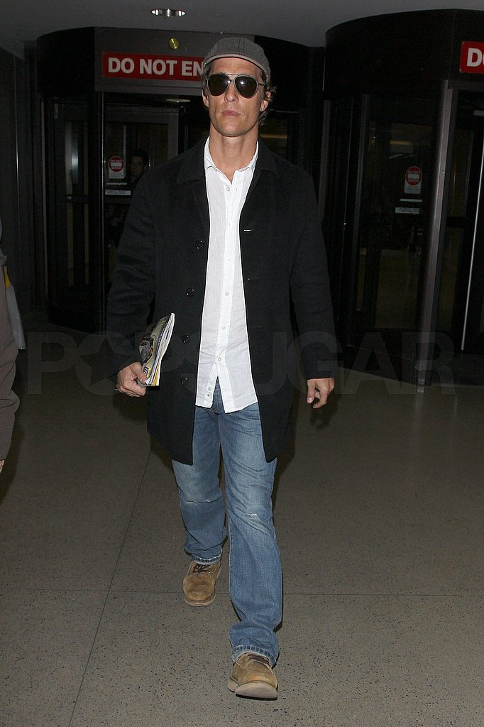 Matthew McConaughey Shows His Texas Pride in California