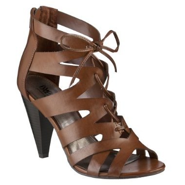 Love the strappiness, earthy color, and price of this Mossimo Heel ($30).
