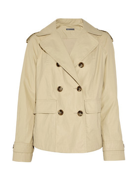Vince Short Waxed Cotton-Blend Trench Coat ($395)
