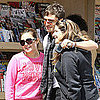 Pictures of Ed Westwick Taking Photos With Fans in LA