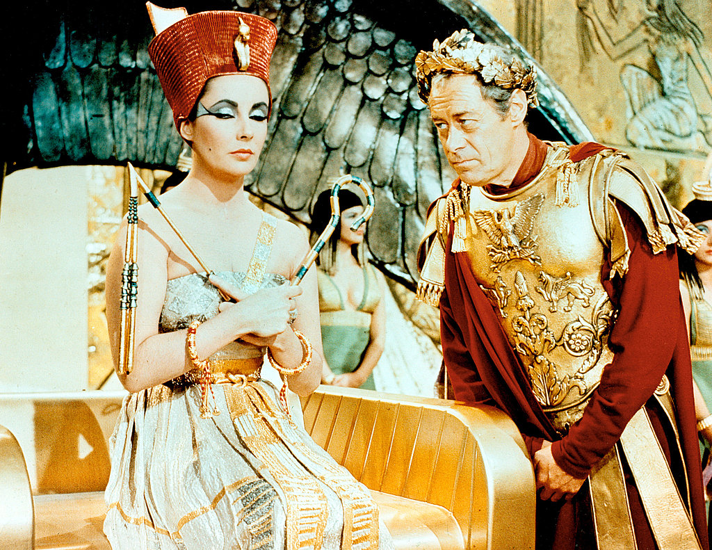 Filming Cleopatra in 1963 with Rex Harrison.